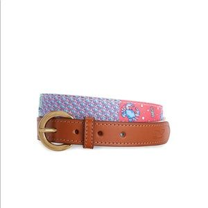 Vineyard Vines Original Patchwork Silk Belt